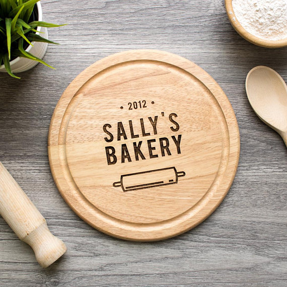 Personalized Bakery Cutting Board